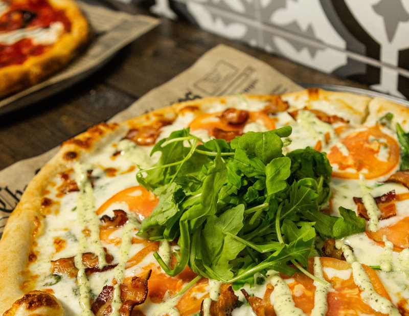 Tomato Bacon Pizza - Classic Crust